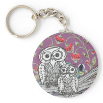 Strawberry Owls Keychain