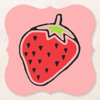 Strawberry Paper Coaster