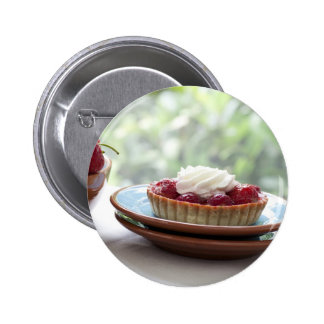 Strawberry Pastries Button
