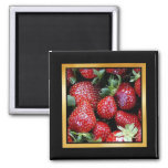 Strawberry Pattern Artwork or Photo Magnet