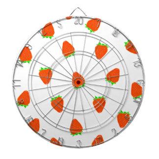 strawberry pattern dart board