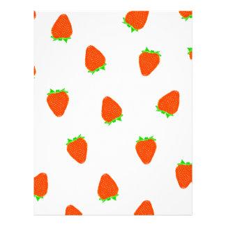 strawberry pattern letterhead