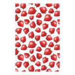 Strawberry Pattern Personalized Stationery