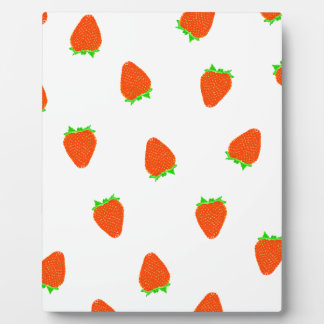 strawberry pattern plaque