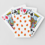 strawberry pattern playing cards