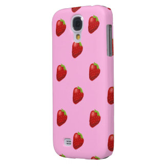 strawberry pattern samsung galaxyS4 barely Samsung Galaxy S4 Case