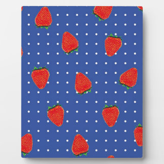 strawberry pattern with dots plaque