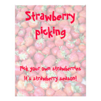 Strawberry picking flyer