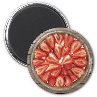 Strawberry Pie 2 Inch Round Magnet