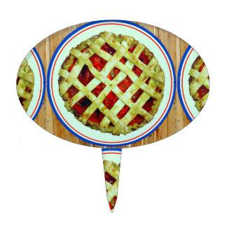strawberry pie cake pick