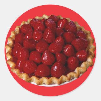 Strawberry Pie Classic Round Sticker