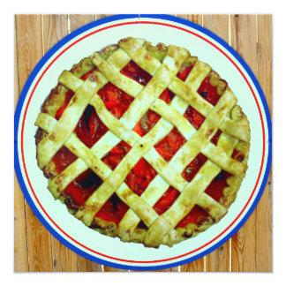 strawberry pie invitation card