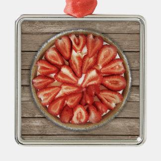 Strawberry Pie Metal Ornament
