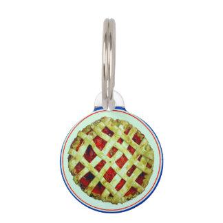 strawberry pie pet tag