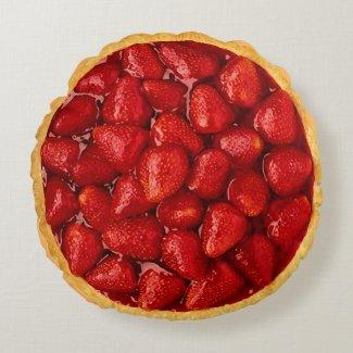 Strawberry Pie Round Pillow