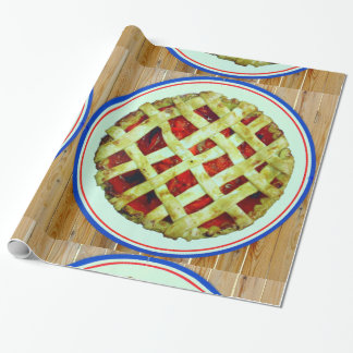 strawberry pie wrapping paper