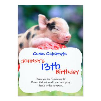 strawberry pig card