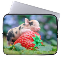 strawberry pig computer sleeve