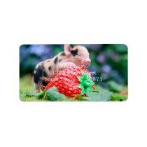 strawberry pig label