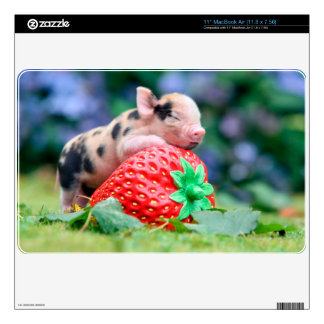 strawberry pig skins for MacBook