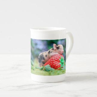 strawberry pig tea cup