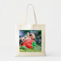 strawberry pig tote bag