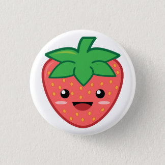 Strawberry Pinback Button