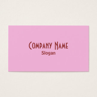 Strawberry Pink Business Card