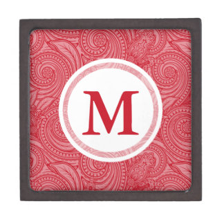 Strawberry Pink Custom Initial Premium Jewelry Boxes