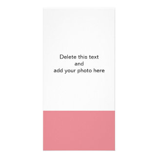 Strawberry Pink High End Solid Color Customized Photo Card