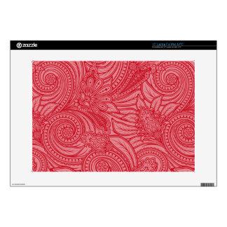 "Strawberry Pink Paisley 15"" Laptop Skins"