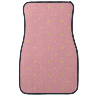 Strawberry Pink Polka Dots Floor Mat