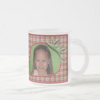 Strawberry Plaid Customizable Photo Mug