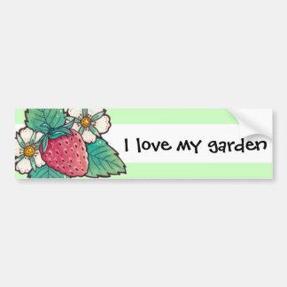 Strawberry Plant I love my Garden Bumper Sticker