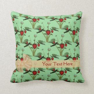 Strawberry Plants Personalized American MoJo Pillo Throw Pillows