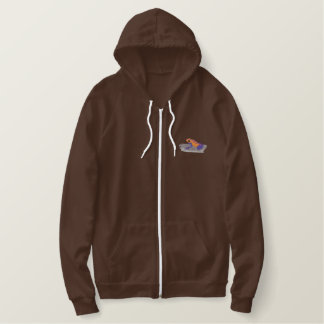 Strawberry Poison Dart Frog Embroidered Hoodie