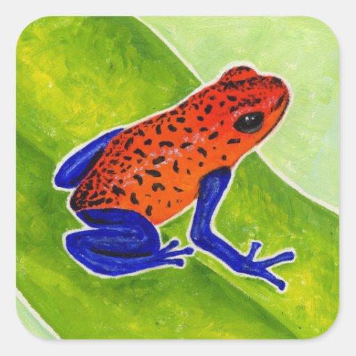 Strawberry Poison Dart Frog Stickers