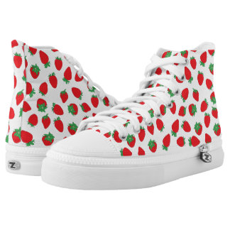 Strawberry Polka Dotted High-Top Sneakers