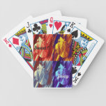 Strawberry Pop Art Bicycle Poker Cards