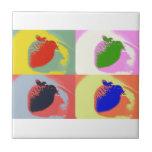 Strawberry Pop Art Ceramic Tiles