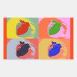 Strawberry Pop Art Stickers