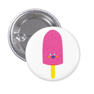 Strawberry Popsicle Badge Button