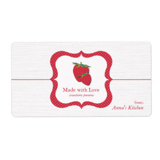 Strawberry Preserves - Food Container labels
