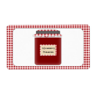 Strawberry Preserves Label Shipping Label