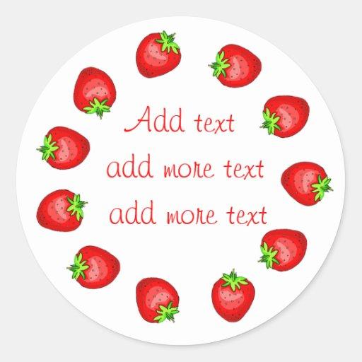Strawberry Preserves Labels Sticker