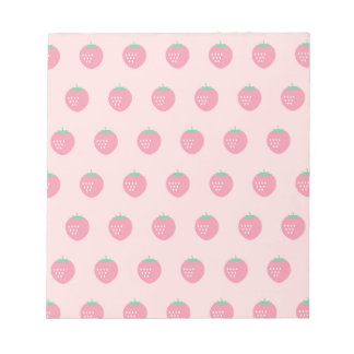 Strawberry Print Notepad