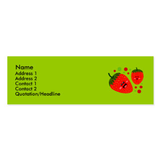 Strawberry Profile Cards Business Card Template