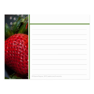 Strawberry Recipe Card
