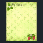 "Strawberry Recipe Page<br><div class=""desc"">Recipe binder inserts! Whimsical strawberry letterhead is ready for your laser printer. Why write out your favorite recipe when you can pop these into your printer and hit go? Sweet strawberries bring a sense of whimsy to your recipes.</div>"