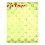 Strawberry Recipe Paper Letterhead Template